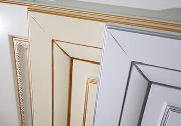 Кухонные фасады МДФ пленка патина