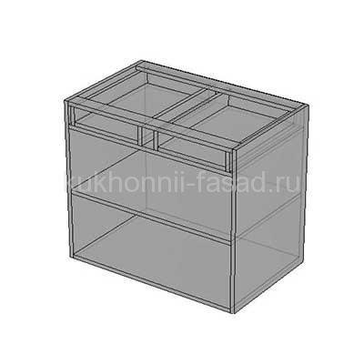 Стол для кухни с двумя выдвижными ящиками и двумя распашными дверьми